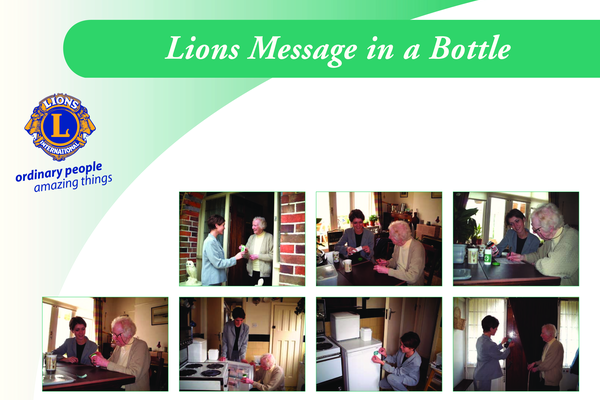 Lions Message in a Bottle
