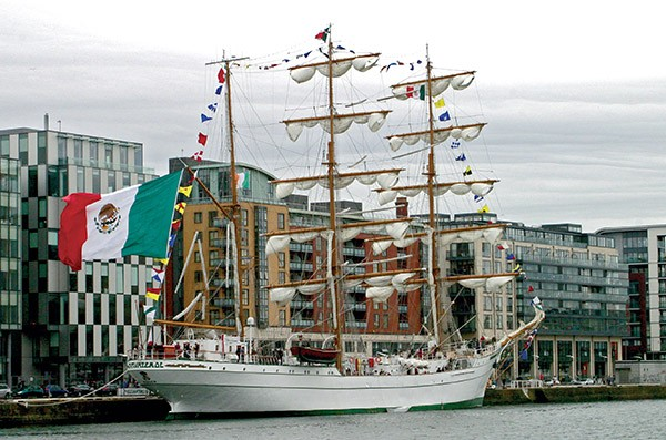 Pictured Above: Mexican Tall Ship Cuauhtémoc docked in June and was open to the public for five days.