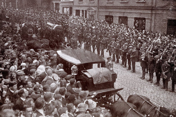 O'Donovan Rossa Leaving City Hall Pic: Dublin City Council