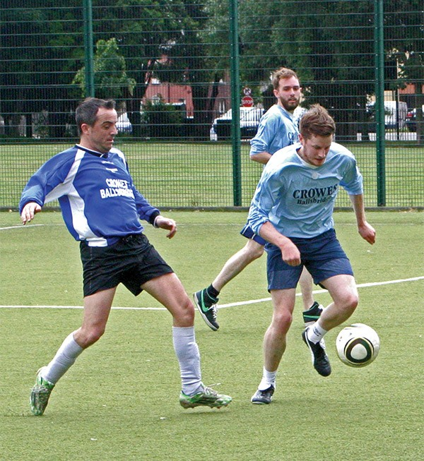 Pictured Above: Parents took on teachers in a soccer match for Ringsend BNS school in Ringsend Park, June 21st.