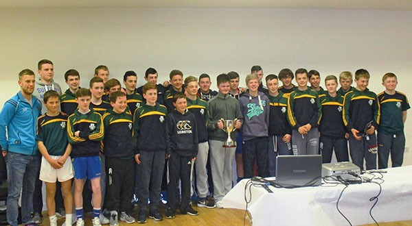 Pictured Above: Dublin senior footballer, Jonney Cooper (far left) with the squad which won the 2014.