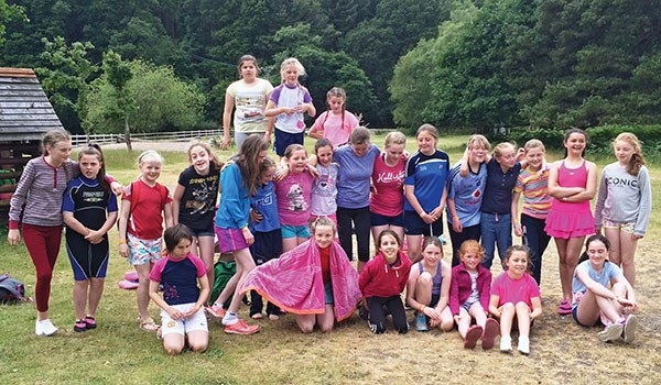 Pictured Above: The U-12 girls take the adventure route in Clara Laragh.