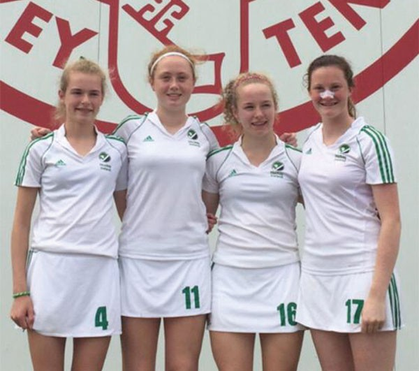 Pictured Above: Railway hockey under-16s Nina Heisterkamp, Grace McLaughlin, Niamh and Michelle Carey.