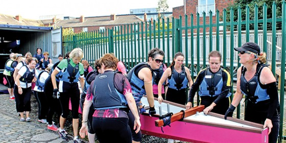 Amazons in Dragon Boats