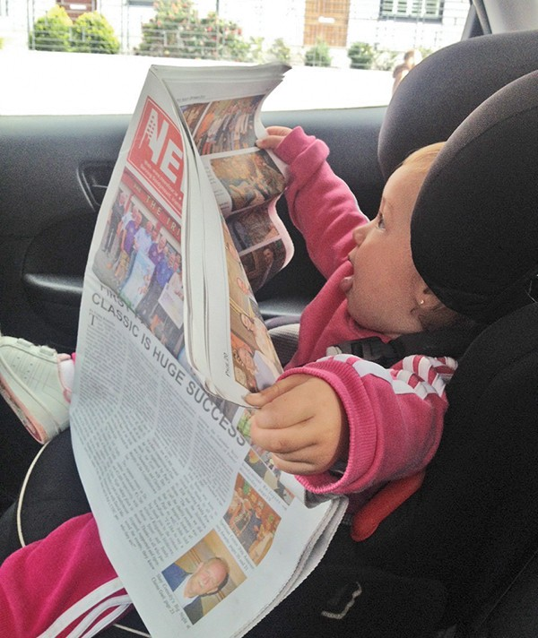 Pg 24 Picture Roundup - Even an 18month old loves an oul read of the News Four!