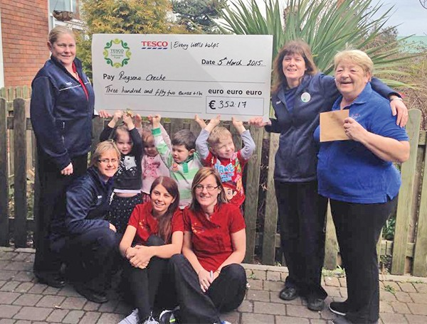 Pg 24 Picture Roundup - Ringsend Creche  Thanks Tesco Photo