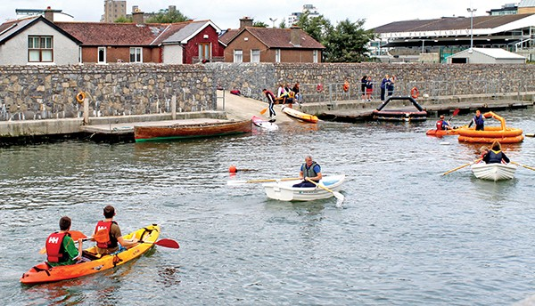 Pg 25 Picture Roundup - Every year the Ringsend Sea Scouts take the school for a day out on the Dodder