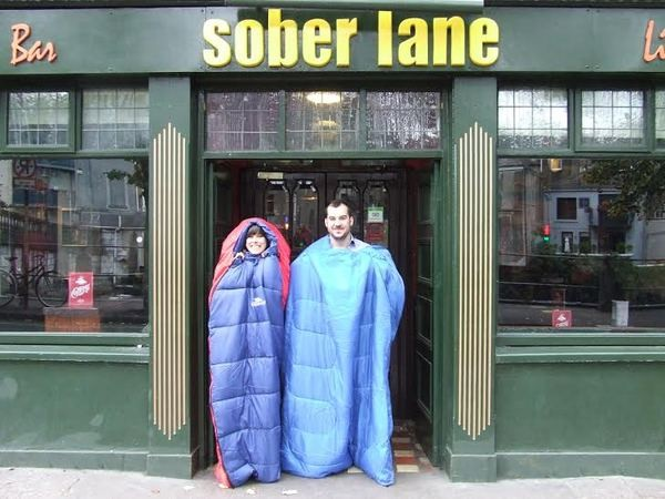 Sober Lane Sleep Out Challenge for Focus Ireland