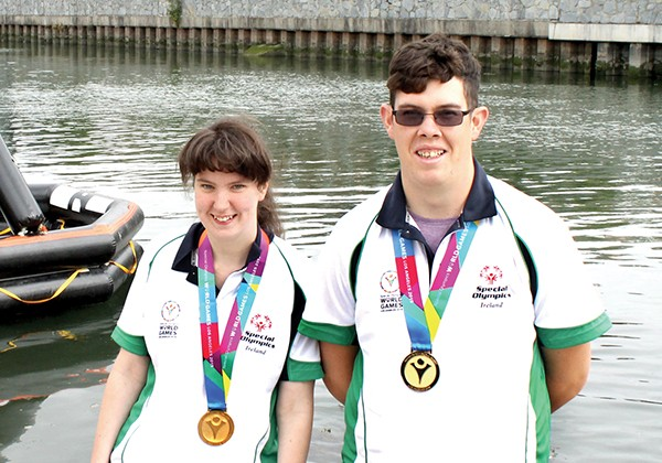 Pictured: Clare Nolan and Keith Butler, Gold medal winners for Ireland in the Special Olympics.