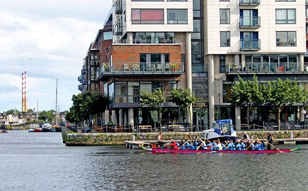 Above and below: The Plurabelle Paddlers get into action at the Dragon Boat Regatta on Saturday September 12th.