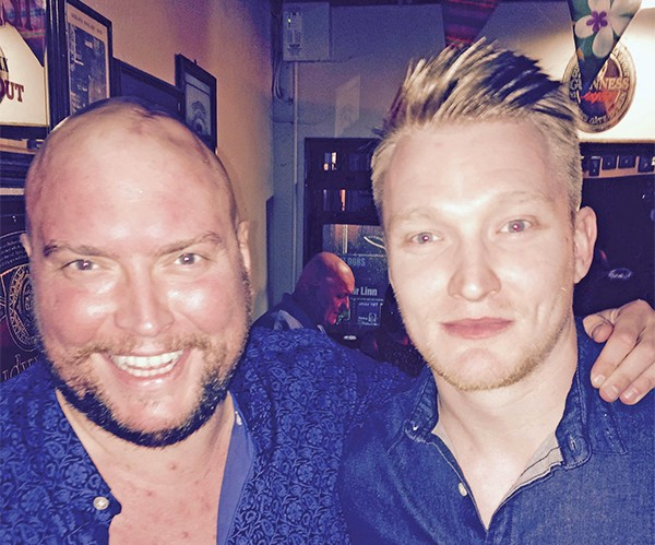 Pictured: Chris Byrne and his brother Eugene.