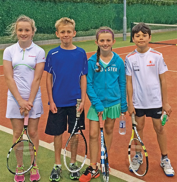 Above: U14 Mixed Doubles – Lucy Crowe, Jamie Forbes, Kate McAlinden and Ryan Byrne.