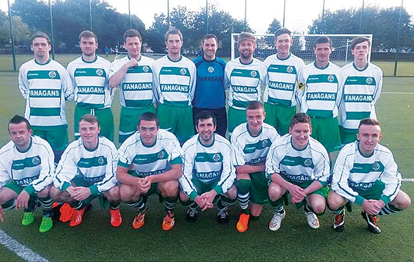 Pictured: CY Senior side before the opening game of the season at home to Home Farm FC.