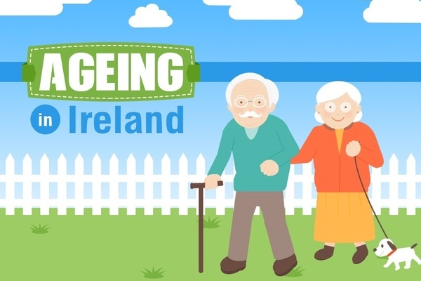 Ageing in Ireland infographic