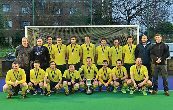 Above: Team Photograph of the Neville Cup Winners. Back, left to right: David Bane (Coach), Simon Thornton, Matthew Bretherton, Simon McKeever, Ravin Nair, Mark English, Eoin MacArthur, James Dick, Chris Reilly, Stewart O'Higgins (Manager) and Steven O'Keeffe. Front, left to right: Richard Forrest, Mateusz Nowakowski, David Richardson, Nick Tate, Fergal Keaveny (Capt.) David McCarthy, Rob Devlin and Kenny Carroll.