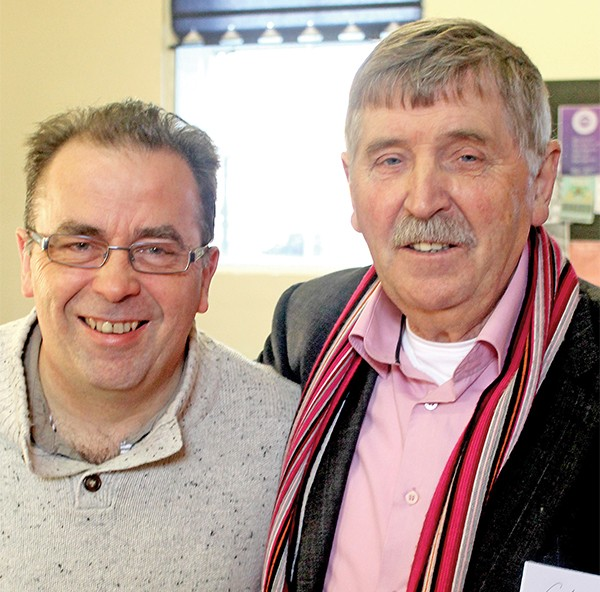 Pictured Above: Colm from CASA with Colm Browne