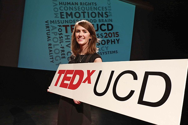 Pictured: TEDxUCD 2015 speaker Maeve O'Rourke.