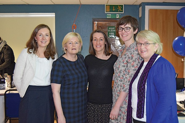 Top, left to right: Nicola Ryan, Catherine Gorman, Gráinne Dunne – Studio Red Architects, Róisín Kelly – Board, Mae Kane.