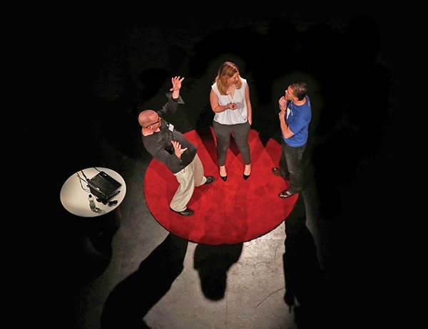 Above: Ted Talk trio in discussion.