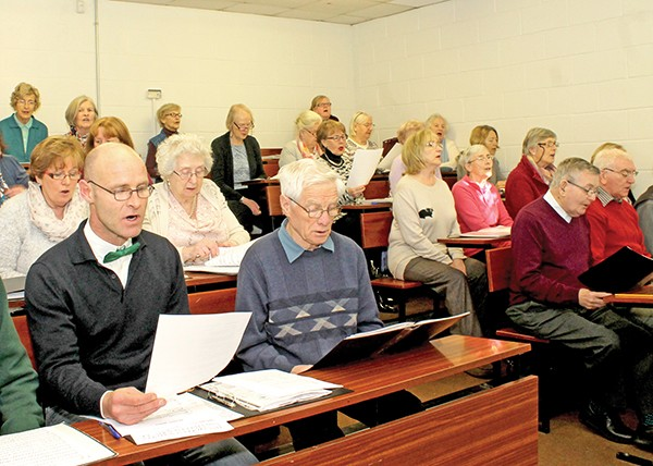 Pictured Above: Members of the Choir.