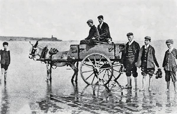 Pictured Above: A ride on the strand.