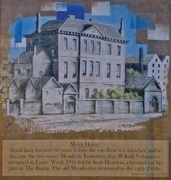 Pictured Above: Mural on wall of Mendicity Institute where Balfe fought. (Images courtesy of 1916 Mendicity Garrison relatives)