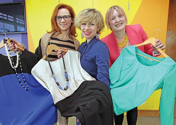 Pictured: Susan Butler, (right) with Cathriona Edwards and Sonya Lennon, of Dress for Success Dublin. Picture courtesy of Dress for Success, Dublin.
