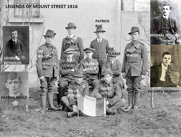 Above: Legends of the Mount Street Battle 1916.