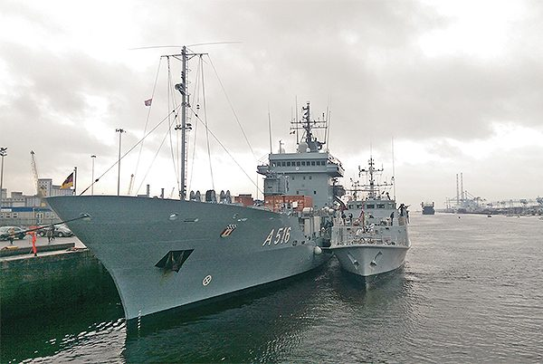 Pictured: One of the NATO Flotilla ships that visited Dublin recently. Picture by Maria Shields O'Kelly.