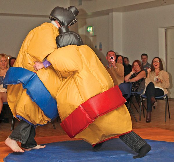 Pictured Above: Two Sumo Wrestlers in action.