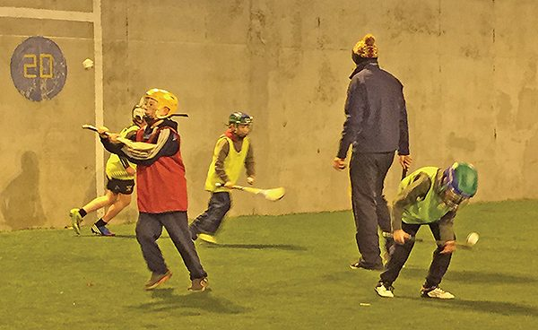 Pictured: U11 hurlers coaching.