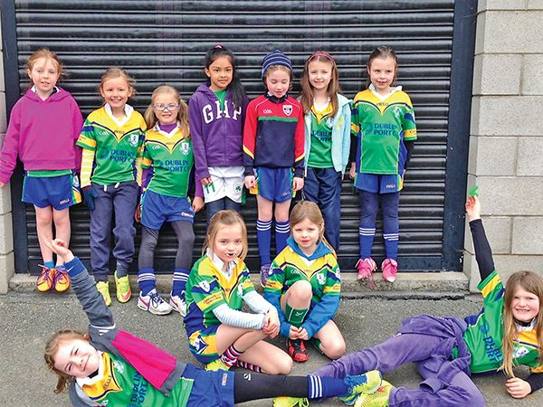 Pictured: Clanns U9 girls football team before their match with Cuala.