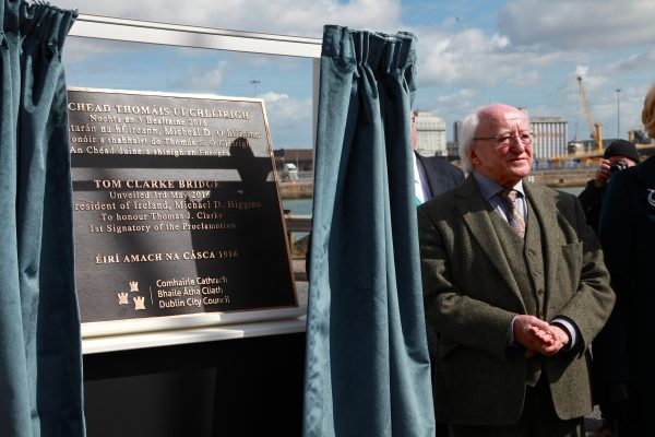 President Higgins at Tom Clarke unveiling
