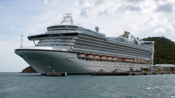 The Caribbean Princess at one of it's international destinations