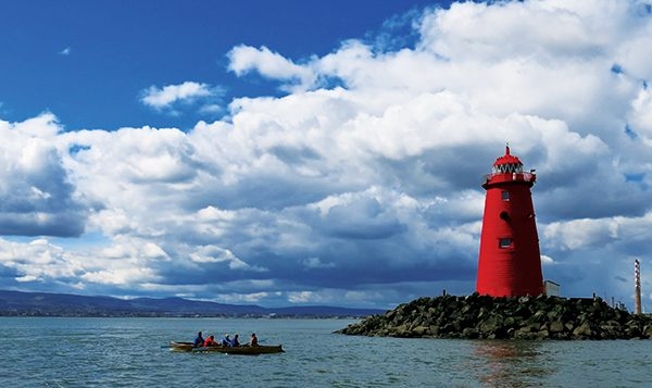 Pictured: Some of the members in practice around the Poolbeg Lighthouse.