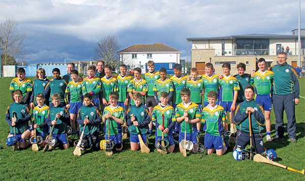U14 hurling squad: Luke Keelan, Dan O'Byrne, Tadhg Clifford Brannock, Tadhg O'Ceallaigh, Liam O'Laoide, Carl Fitzgerald, Art Stephenson, Harry O'Sullivan, Alex O'Meara, David Walsh, Jack Ginnelly, Finn Reidy, Milan Kalita, Aidan Duffy, Michael Hennessy, Eamon Cullimore, Denis O'Connor, Killian O'Brien, Peter Maher, Paul Kobus, Justin Millo, James Crowley, Dylan Mackey, Cian Morgan, Conor Moriarty, Brian Barron; together with mentors Nially Moriarty, Conor Crowley and Pat Duffy