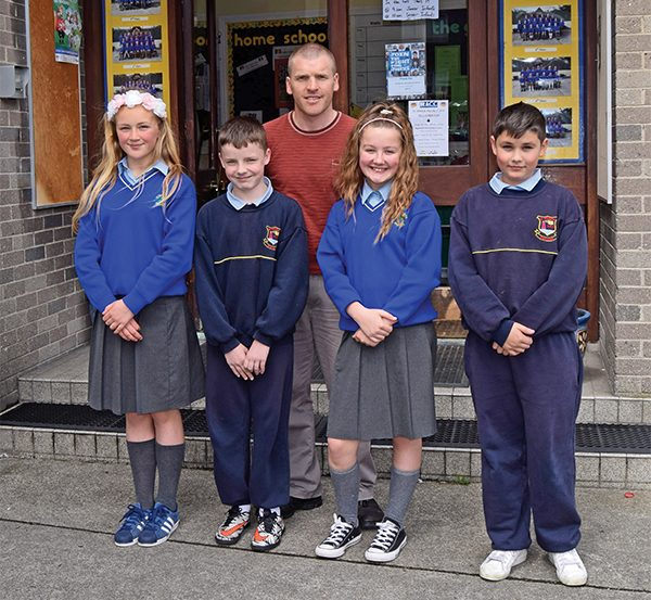 Pictured left, left to right: Katie Crilly, Richard Purdy, Donal Lahmann, Toni Daly, Josh King.