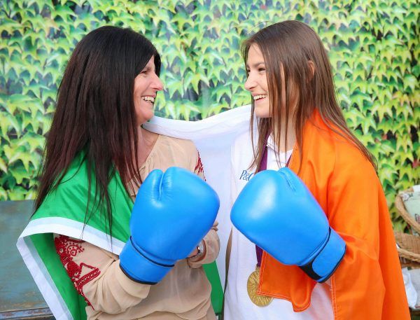 "21/4/16 ***NO REPRO FEE*** Boxer and Olympic gold medallist, Katie Taylor, and her mum, Bridget Taylor, have today been unveiled as ambassadors for P&G's ""Thank You  Mum"" campaign ahead of the Rio 2016 Olympic Games. The ""Thank You,  Mum"" campaign continues P&G's legacy of bringing a unique perspective  to the Olympic Games, as the ""Proud Sponsor of Mums"". Pic: Marc O'Sullivan"