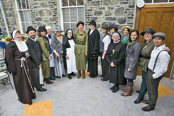 Pictured: Volunteers of St Mary's dressed up for a 1916 event. Image courtesy of Maura Masterson, St. Mary's Centre.