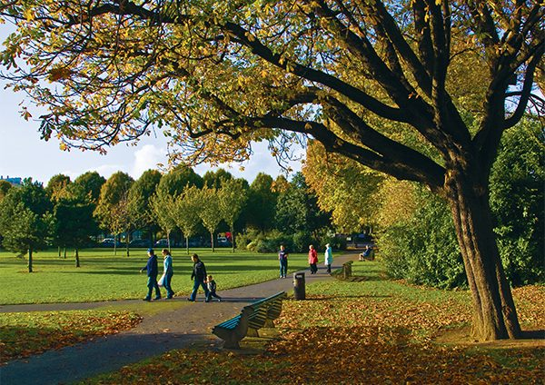 Above: Strolling in Herbert Park.