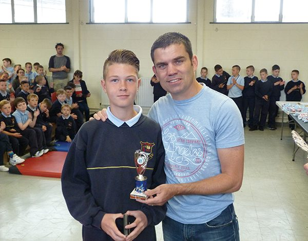 Pictured above: Evan Kelch – Soccer Player of the Year with Bernard Dunne. Images courtesy of Andy O'Rourke.