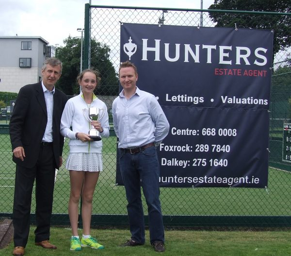 Hunters Donnybrook Junior Open August 2016_U16 Girls Singles Winner Aisling OConnor