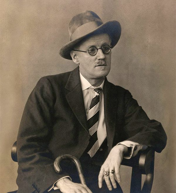 Pictured above: James Joyce, creator of Leopold Bloom.