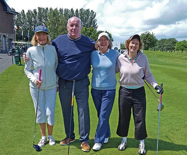 Pictured on the golf course: Virginia Shortt, John Behan, Pauline Tighe, Marie Boland.
