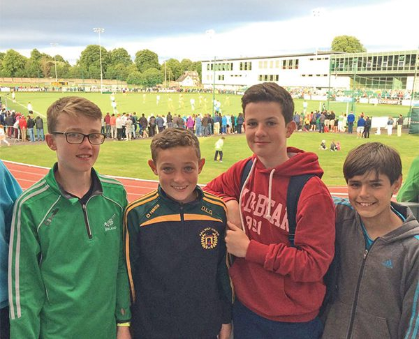 Pictured above: Boys from Railway Union enjoying Ireland v Netherlands match at Mardyke Cork on July 4th