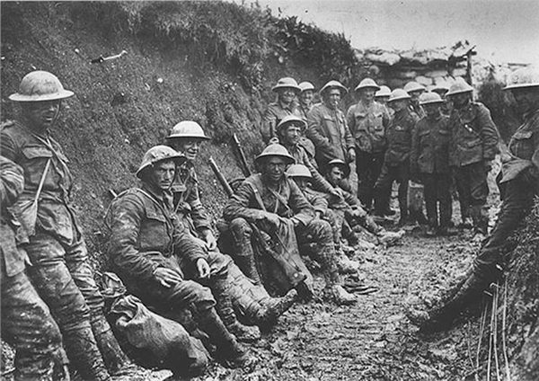 Pictured: Trench warfare – the Royal Irish Rifles in World War One.