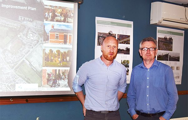 Above: Marc Campbell of Mitchell and Associates and Brian Kirk of DCC. Photo by Sandra Hawkins.