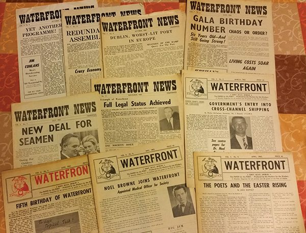 Above: Issues of Waterfront News from the 1960s.