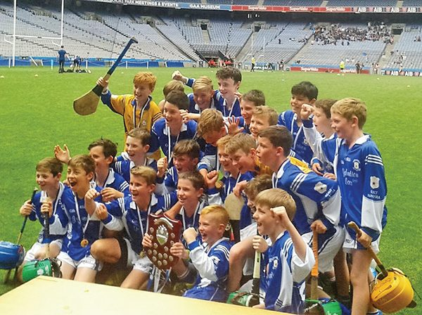 Above: The Star of the Sea team celebrate their win in Croke Park.