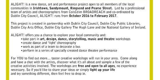 ALIGHT! brings dancing and art to Dublin 4